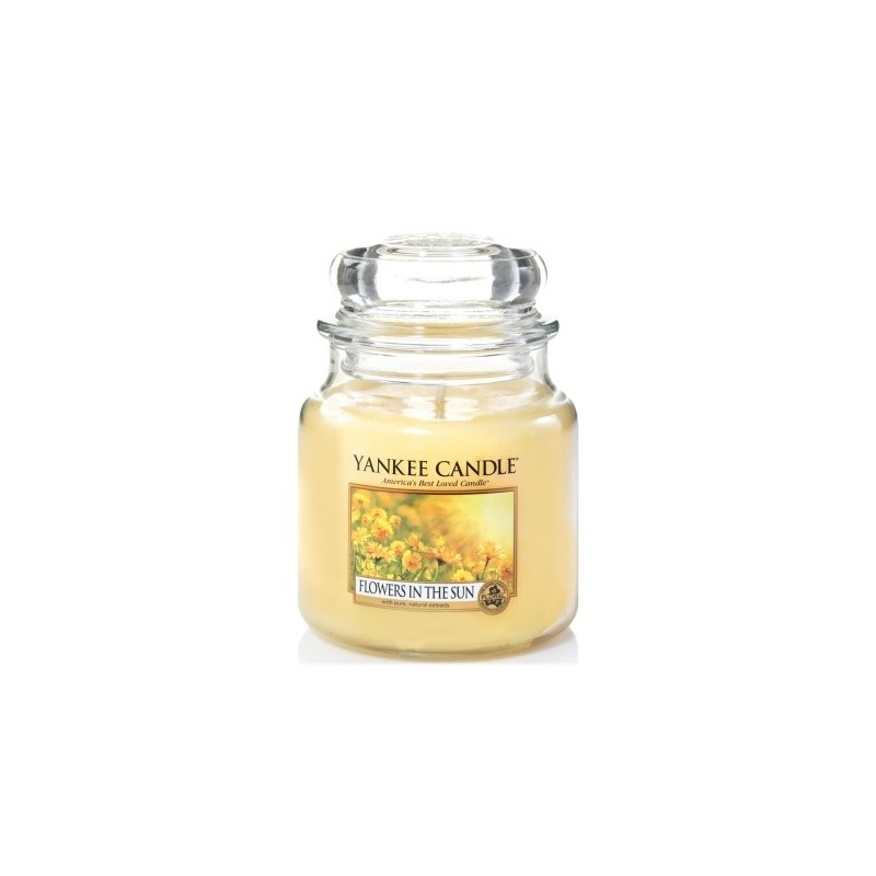 """flowers in the sun"" Yankee Candle Orta Boy Kavanoz Mum 1351653E"