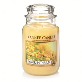 """flowers in the sun"" Yankee Candle Büyük Boy Kavanoz Mum"