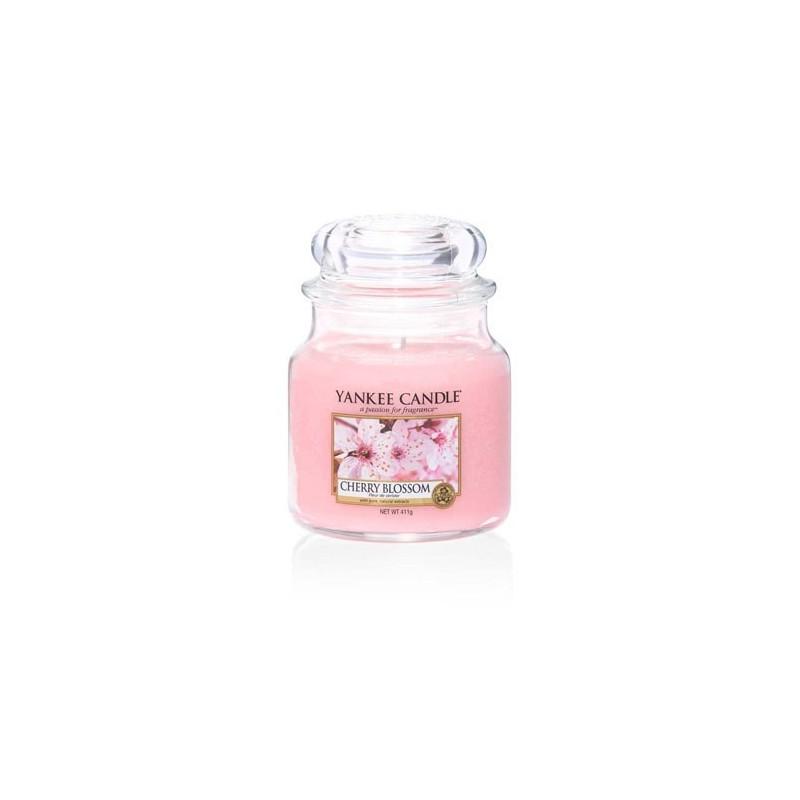 """cherry blossom"" Yankee Candle Orta Boy Kavanoz Mum 1542837E"