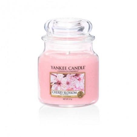 """""""cherry blossom"""" Yankee Candle Orta Boy Kavanoz Mum"""