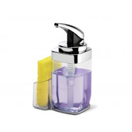 simplehuman® kare basmalı sabunluk krom 650ml