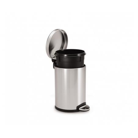 simplehuman ® 3lt mini yuvarlak çöp kutusu mat paslanmaz çelik CW1854CB