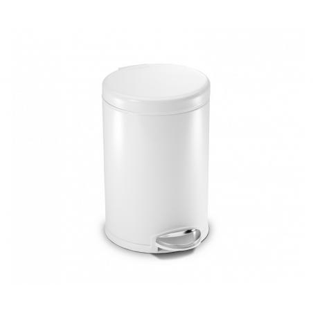 simplehuman ® 3lt mini yuvarlak çöp kutusu beyaz CW1856CB