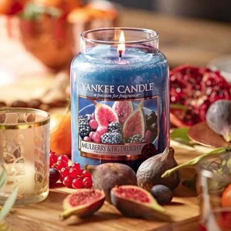 """Mulberry & Fig Delight"" Yankee Candle Büyük Boy Kavanoz Mum"