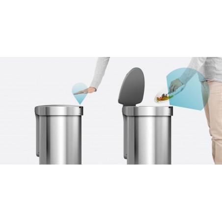 simplehuman® 45L sensörlü yarım daire çöp kutusu