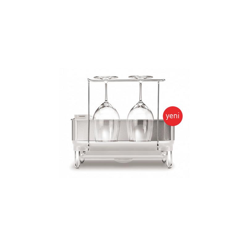 simplehuman® compact çelik gövdeli bulaşıklık beyaz KT1167