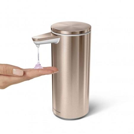 simplehuman | şarj edilebilir sensörlü sıvı sabunluk, rose gold