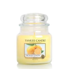 Yankee Candle | Sicilian Lemon · Orta Boy - Kavanoz Mum · 1230636E - guruhomestore (TR)