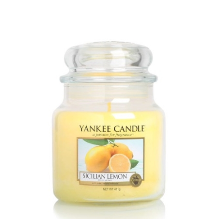 Yankee Candle   Sicilian Lemon · Orta Boy - Kavanoz Mum · 1230636E - guruhomestore (TR)