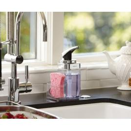 simplehuman | kare basmalı sabunluk, krom
