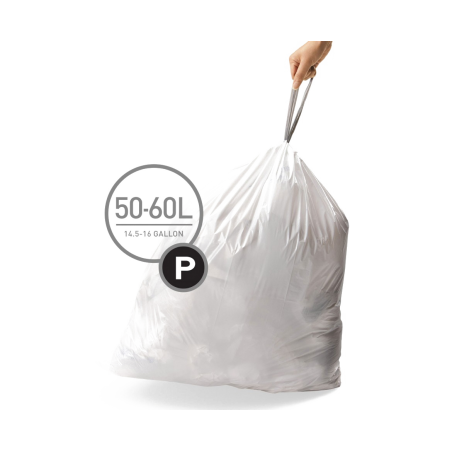 simplehuman® 50-60 Litre çöp poşeti (p)
