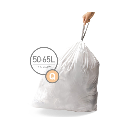 simplehuman® 50-65 Litre çöp poşeti (q)