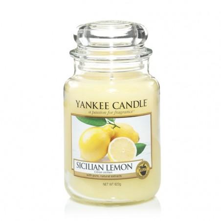 """""""sicilian lemon"""" Yankee Candle Büyük Boy Kavanoz Mum 1230635E"""