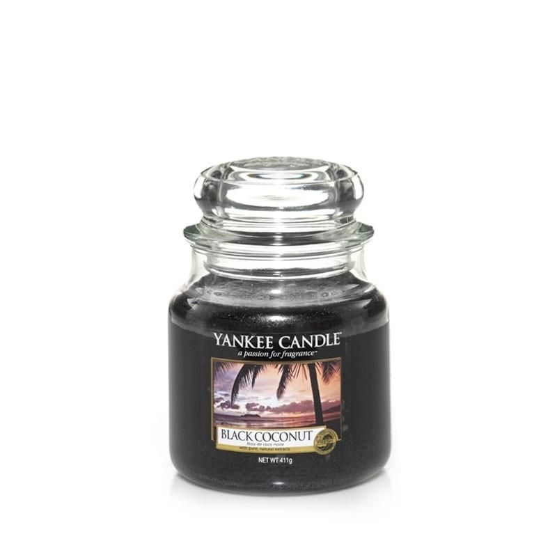 """black coconut"" Yankee Candle Orta Boy Kavanoz Mum 1254004E"