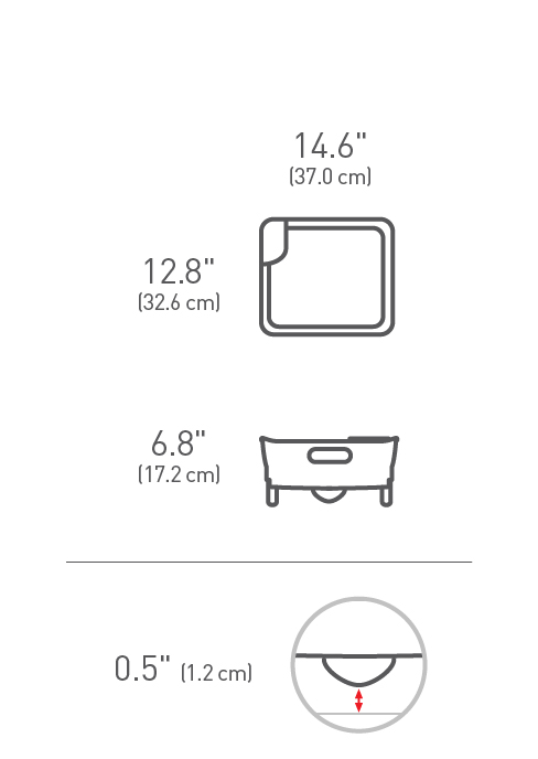 simplehuman® plastik compact bulaşıklık (gri) KT1106