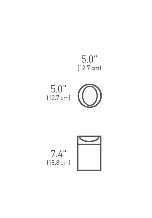 simplehuman ® 1.5lt tezgah üstü çöp kutusu CW1638CB