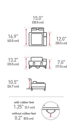 simplehuman® compact çelik gövdeli beyaz bulaşıklık KT1167