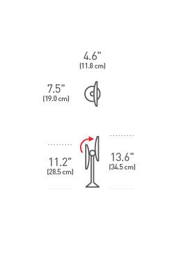 simplehuman® 16.5cm sensörlü paslanmaz çelik ayna 7x görüntü ST3005