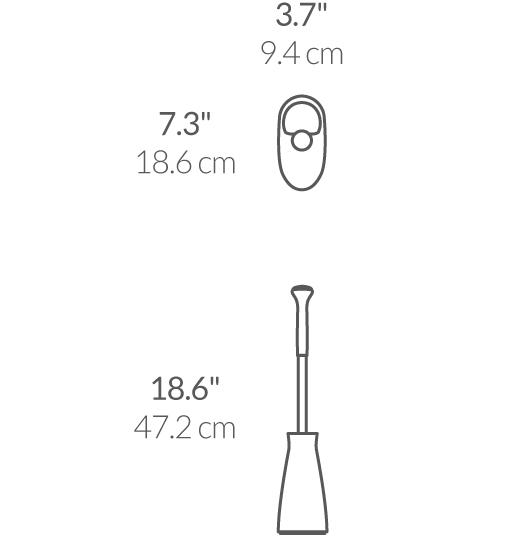 simplehuman® siyah tuvalet fırçası BT1084