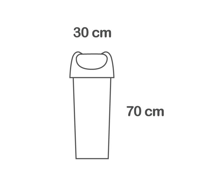 40 litre sallanan kapak çöp kutusu boyutları