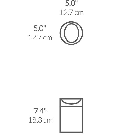 simplehuman ® 1.5lt tezgah üstü çöp kutusu CW1637CB