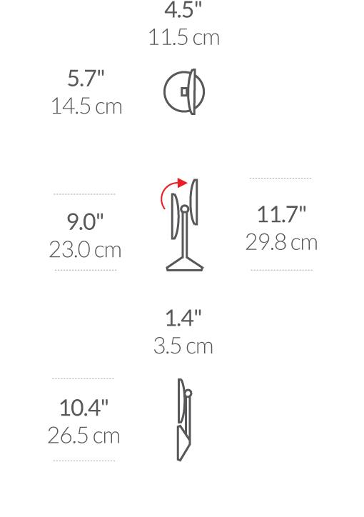 simplehuman® sensörlü 12cm ayna rose gold ST3010