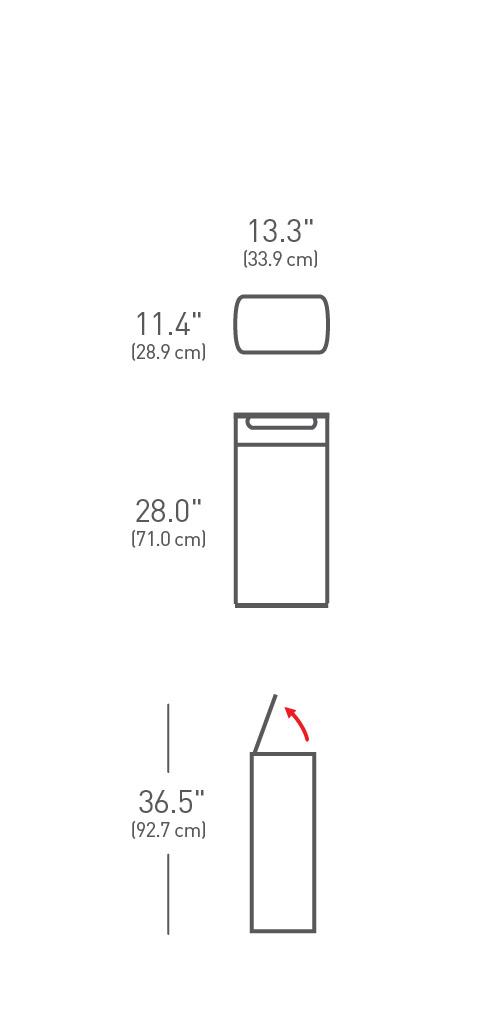 simplehuman ® 30lt dikdörtgen dokunmatik çöp kutusu CW2015