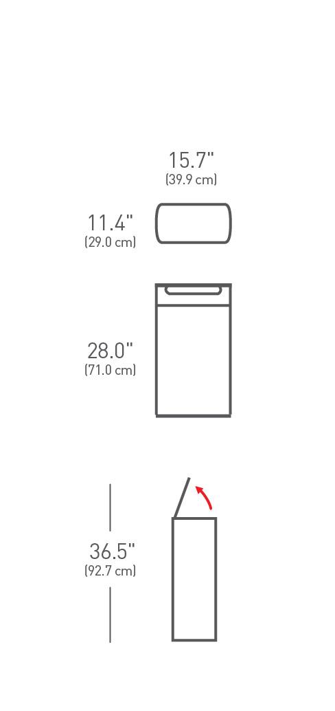 simplehuman ® 40lt slim dokunmatik çöp kutusu CW2016