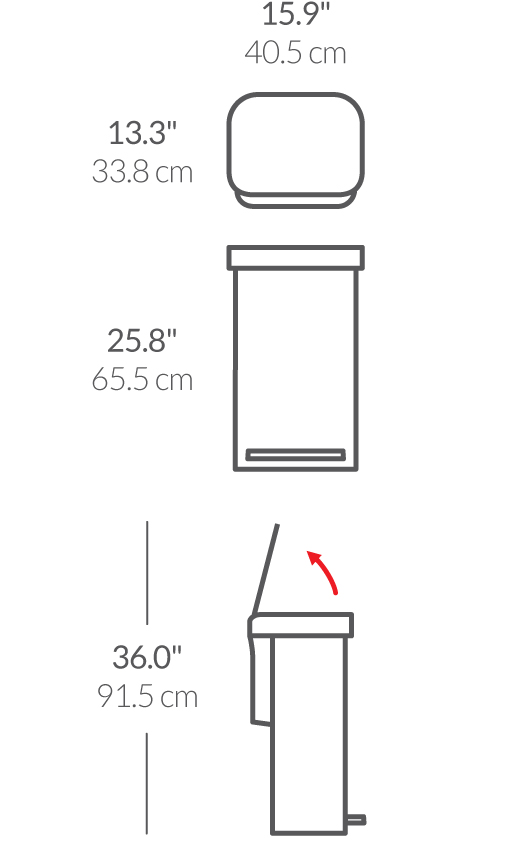 simplehuman® 45 lt paslanmaz pedallı çöp kutusu 'dark bronze' CW2036