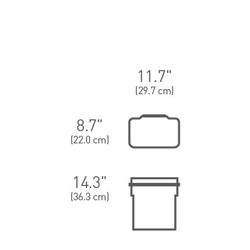 simplehuman ® 10lt dolap içi çöp kutusu CW1643