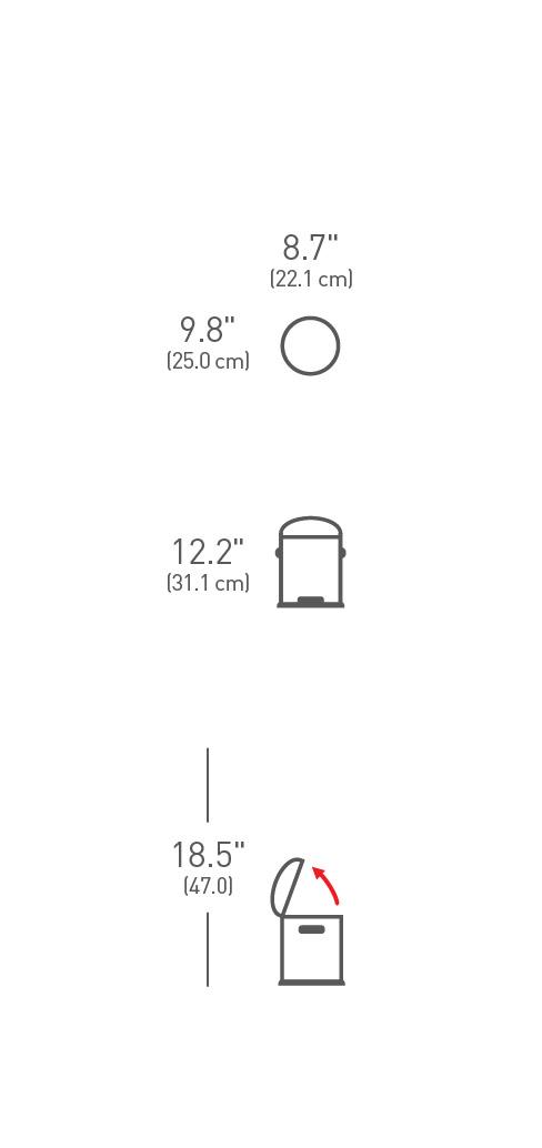 simplehuman ® 4.5lt retro küçük çöp kutusu CW1888