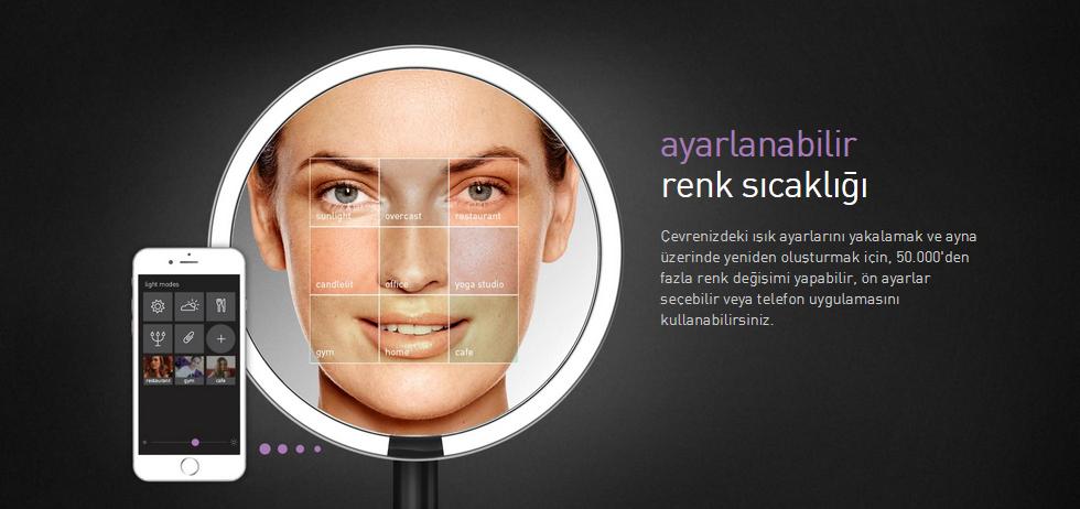simplehuman® 20cm sensörlü ayna pro