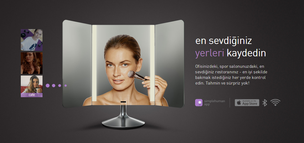 Simplehuman Pro Wide View Sensörlü Akıllı Ayna